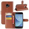 Чехол-книжка Litchie Wallet для Samsung J250 Galaxy J2 2018 Коричневый