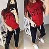 Женский костюм спорт на лето с футболкой 74SP630