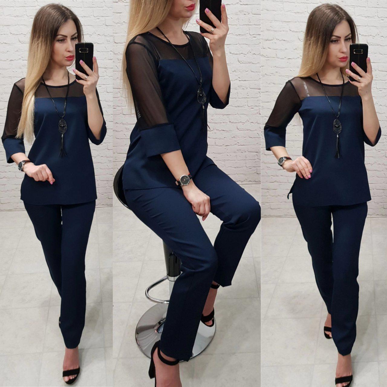Стильний жіночий костюм, арт 153,є батал, колір бордо + підвіска