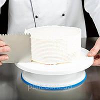 Стойка для торта вращающаяся пластик с прорезиненным основанием 27*7,5 см