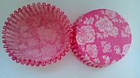 Тарталетки (капсулы) 6см бумажные для кексов, капкейков роза, фото 1