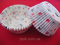 Тарталетки (капсулы) бумажные для кексов, капкейков Love is