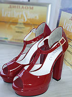 Босоножки женские на устойчивом каблуке RS 1770/1 разные цвета