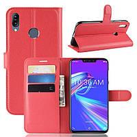 Чехол-книжка Litchie Wallet для Asus Zenfone Max M2 Красный