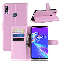Чехол-книжка Litchie Wallet для Asus Zenfone Max M2 Светло-розовый