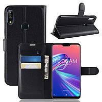 Чехол-книжка Litchie Wallet для Asus Zenfone Max Pro M2 Черный