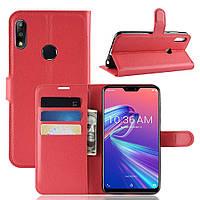 Чехол-книжка Litchie Wallet для Asus Zenfone Max Pro M2 Красный