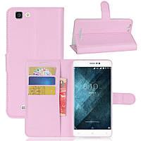 Чехол-книжка Litchie Wallet для Blackview A8 Max Светло-розовый