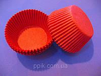 Тарталетки (капсулы) бумажные для кексов, капкейков Красные