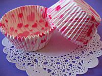 Тарталетки (капсулы) бумажные для кексов, капкейков Сердечки, фото 1