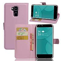 Чехол-книжка Litchie Wallet для Doogee Y6 / Y6c Светло-розовый