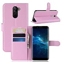 Чехол-книжка Litchie Wallet для Doogee X60L Светло-розовый