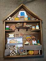 Дерев'яна картина оберіг для дому ручної роботи 30*24 см