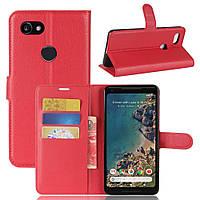Чехол-книжка Litchie Wallet для Google Pixel 2 XL Красный
