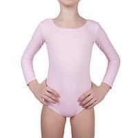 Купальник для танцев и гимнастики  Dance&Sport 6028 розовый, хлопок
