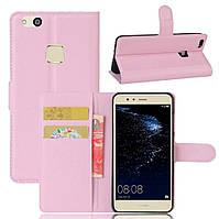 Чехол-книжка Litchie Wallet для Huawei P10 Lite Светло-розовый