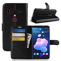Чехол-книжка Litchie Wallet для HTC U12 Plus Черный