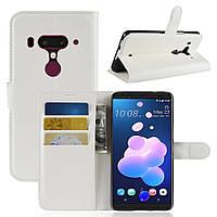 Чехол-книжка Litchie Wallet для HTC U12 Plus Белый