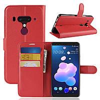 Чехол-книжка Litchie Wallet для HTC U12 Plus Красный