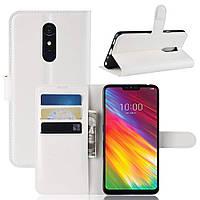 Чехол-книжка Litchie Wallet для LG G7 Fit Белый
