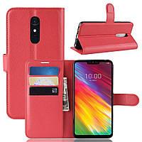 Чехол-книжка Litchie Wallet для LG G7 Fit Красный
