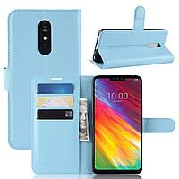 Чехол-книжка Litchie Wallet для LG G7 Fit Голубой