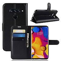 Чехол-книжка Litchie Wallet для LG V40 ThinQ Черный