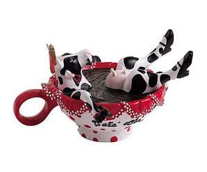 Статуэтка Cow Parade Корова в чашке с кофе 16х5х11см