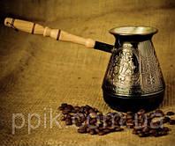 """Турка для кофе медная (500 мл) """"Козаки"""", фото 1"""