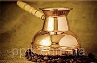 Турка для кофе медная (500 мл) Светлая