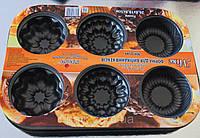 Форма для выпечки капкейков (кексов) рифленная ассорти