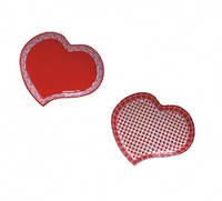 Форма для запекания в форме сердца 25*22*3,5 см Микс 1 Красный 700мл, фото 1