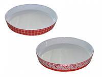 Форма для запекания круглая 25,5*25,5*3,5 см 1,1л Микс 1 Красный, фото 1