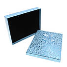 Подарочная коробочка под набор Сердечки с бантом  16,5х12,5х3 см, голубая, фото 2