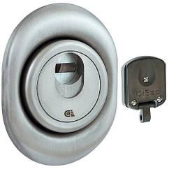 Броненакладка магнитная DISEC 3G2M цилиндровая Хром матовый