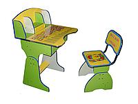 Детская парта Веселая учеба (желтосалатов)