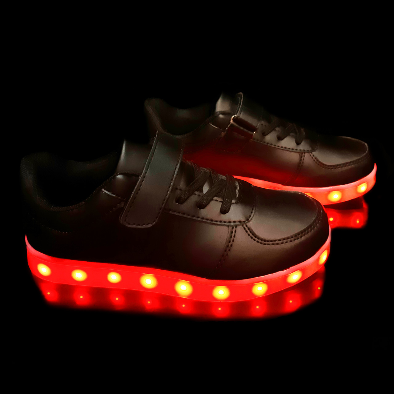 Кроссовки с LED подсветкой детские Black W20
