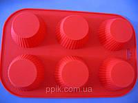 Форма силиконовая кексы из 6 шт., фото 1