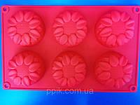 Форма силиконовая Подсолнухи, фото 1
