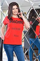 Женская футболка батальных размеров