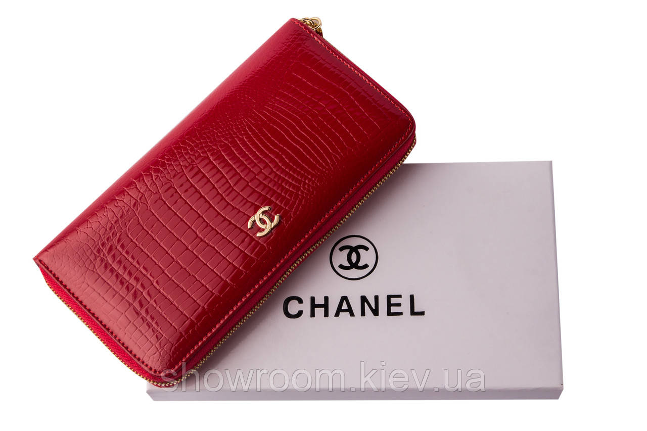 Женский кожаный брендовый кошелек (046) red