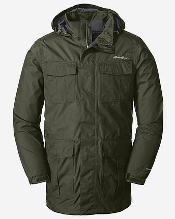 Мембранная куртка мужская Eddie Bauer Mens Parka Rainfoil LONG DK LODEN, фото 2