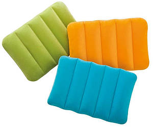 Intex Надувная подушка 68676 цветная 43х28х9см