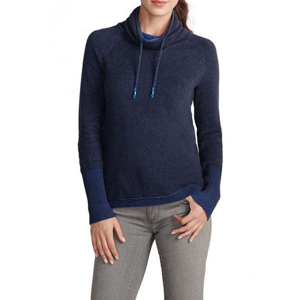 Пуловер женский Eddie Bauer Womens Pullover mit weitem Rollkragen NAVY