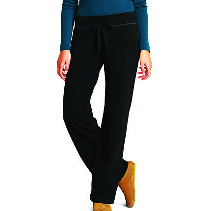 Спортивные штаны женские  Eddie Bauer Women Brushed Fleece BLACK, фото 2