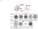 Диск колеса стальной R15'x6.0J, KIA Stonic 2017-, 52910h8000, фото 5