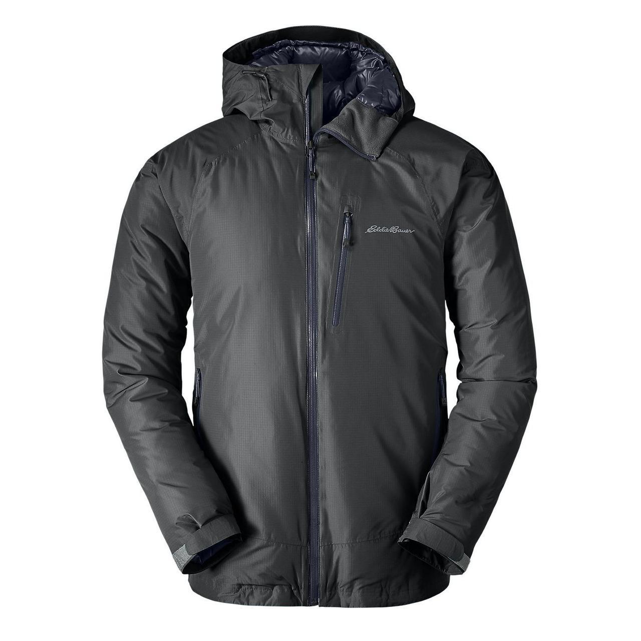 Мембранная куртка мужская Eddie Bauer Men BC Downlight StormDown DK SMOKE (L)