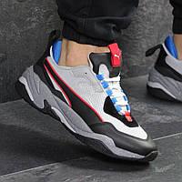 Мужские кроссовки демисезонные Puma 7741 черные с серым, фото 1