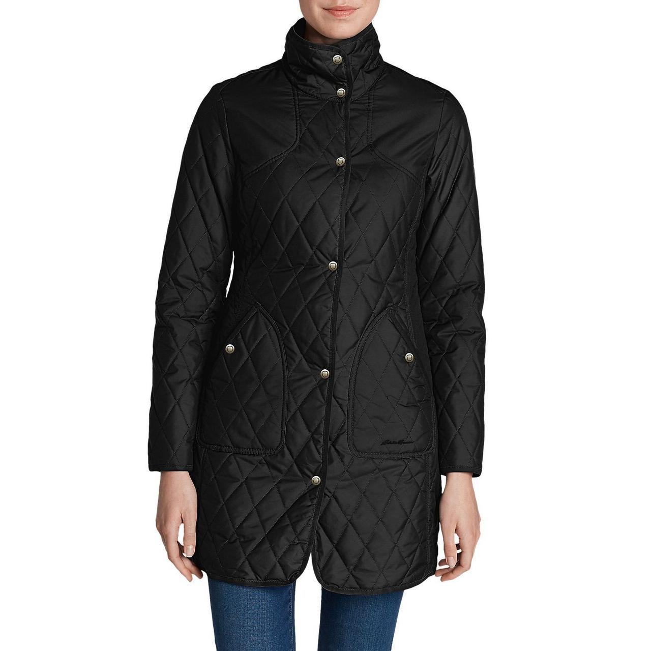 Зимнее женское пальто Eddie Bauer Womens Year-Round Field Coat BLACK