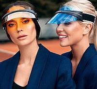 Стильный козырек от DIOR, козырек от солнца, очки от солнца, прозрачная кепка